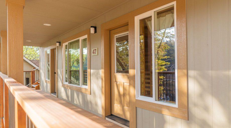 Exterior of cabin porch