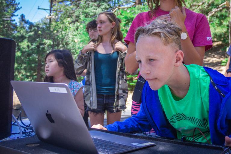 kids using dj equipment