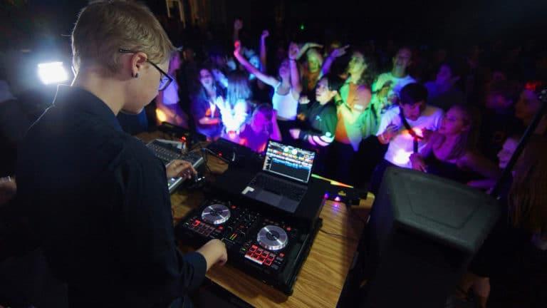 kid performing at dj camp