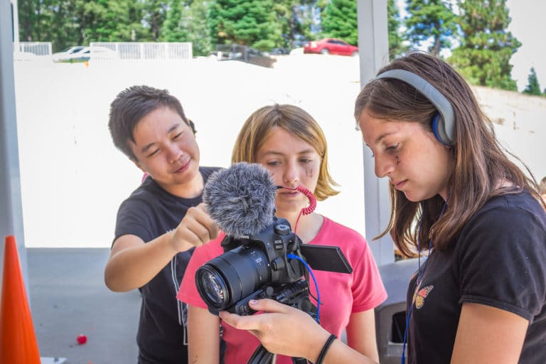 kids at film summer camp