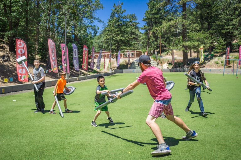 kids at LARP camp