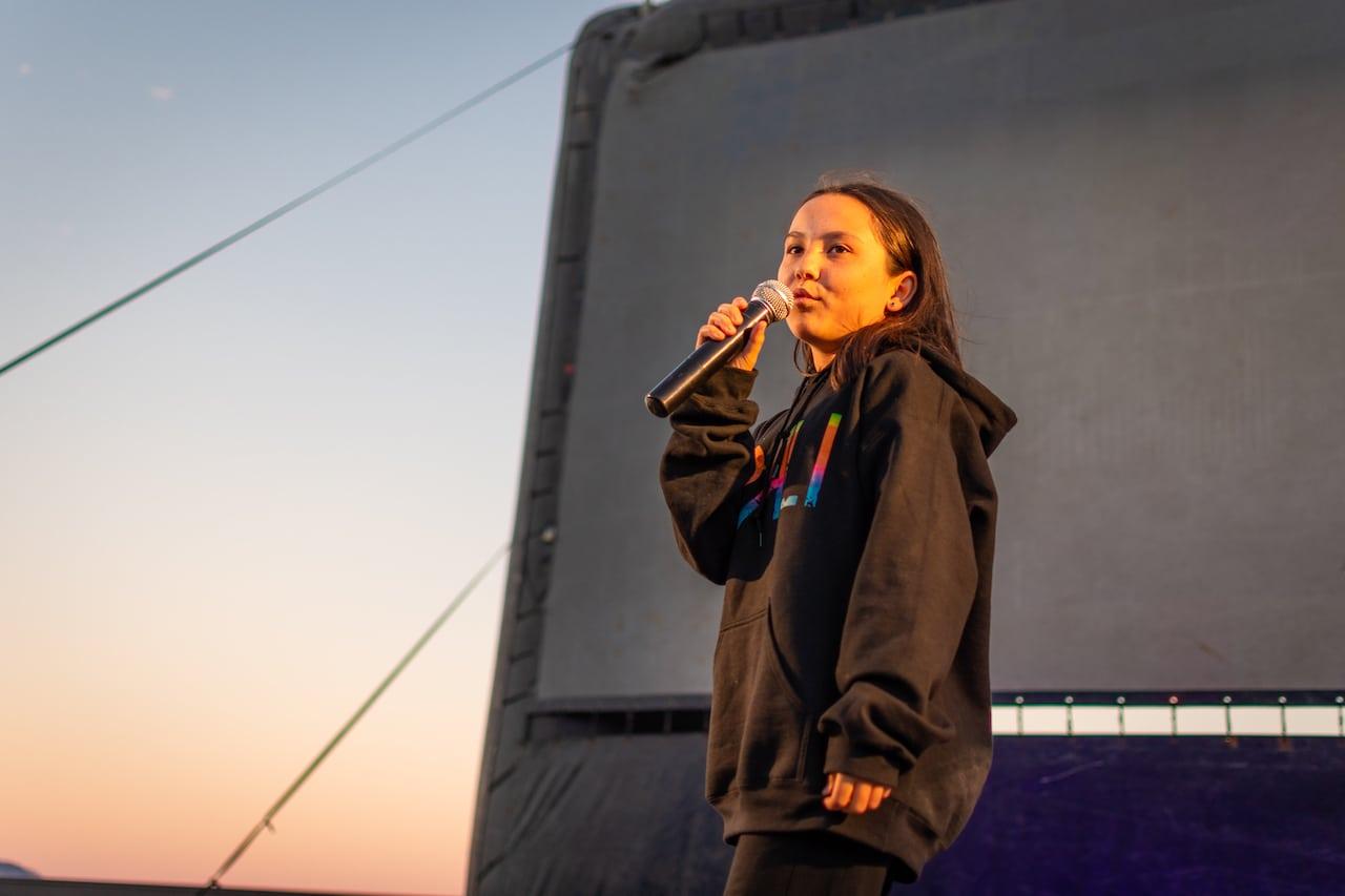 girl performing at acting camp