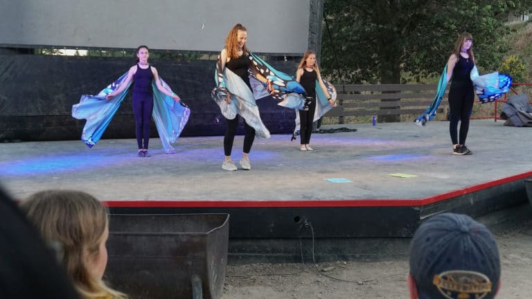 girls performing at dance talent show