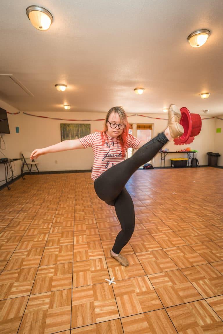 girl dancing in dance studio
