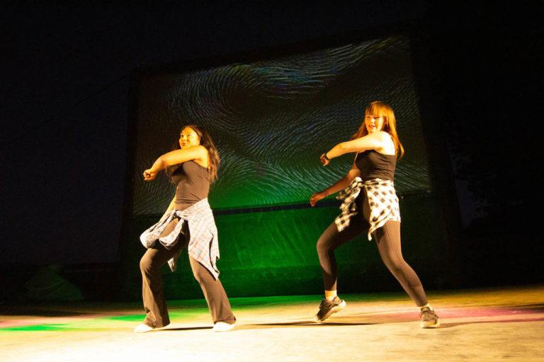 girls performing hip hop dance at camp